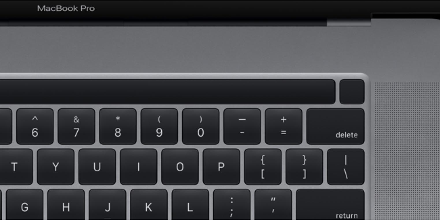 MacBook Pro 16 pouces Touch ID