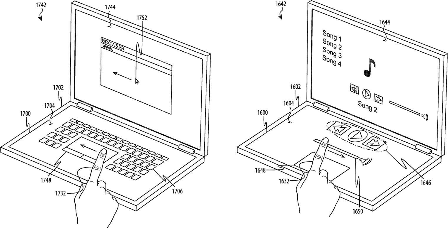 Brevet Apple clavier tactile
