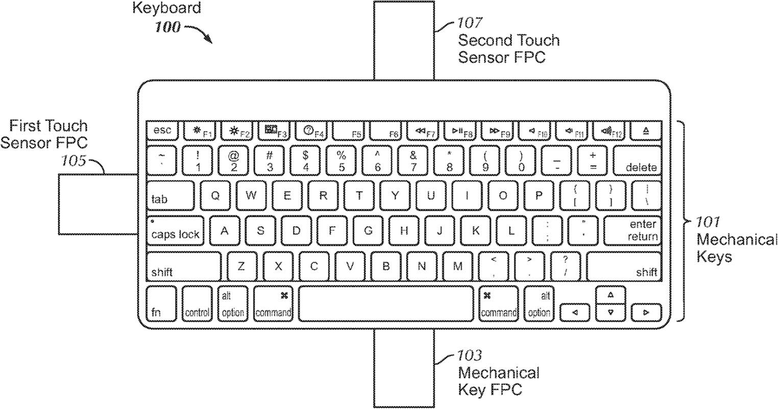 Brevet clavier tactile Apple