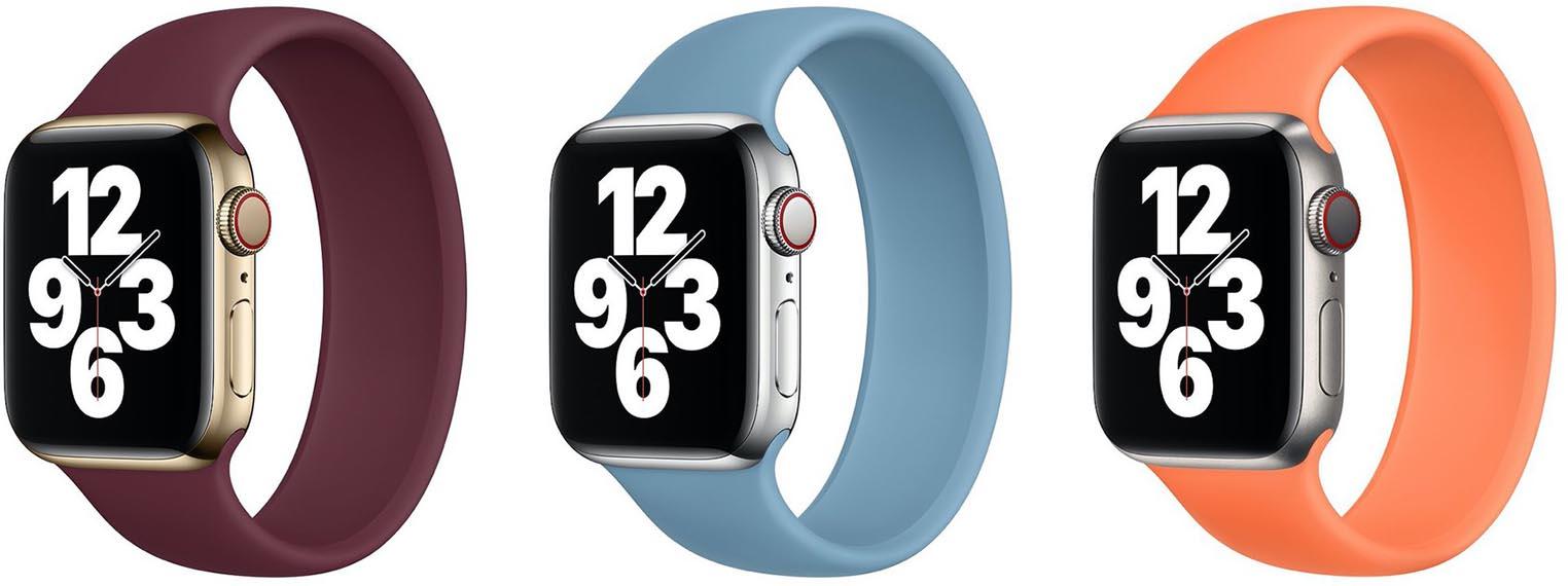 Bracelets Apple Watch prune kumquat bleu nordique