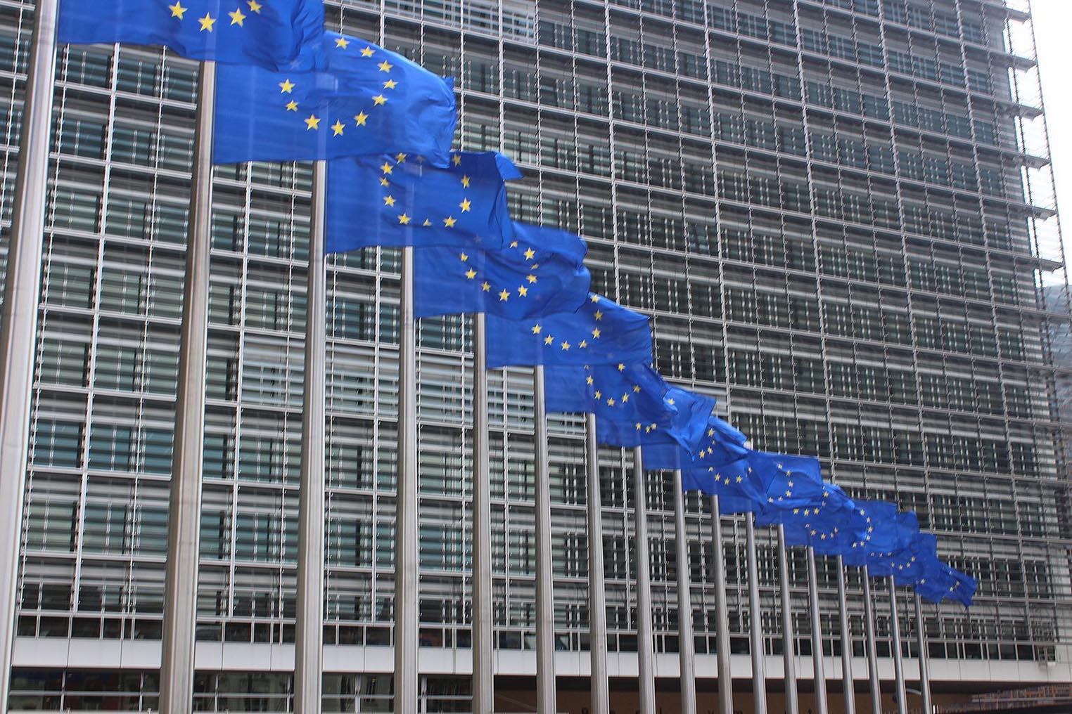 Commission européenne drapeaux