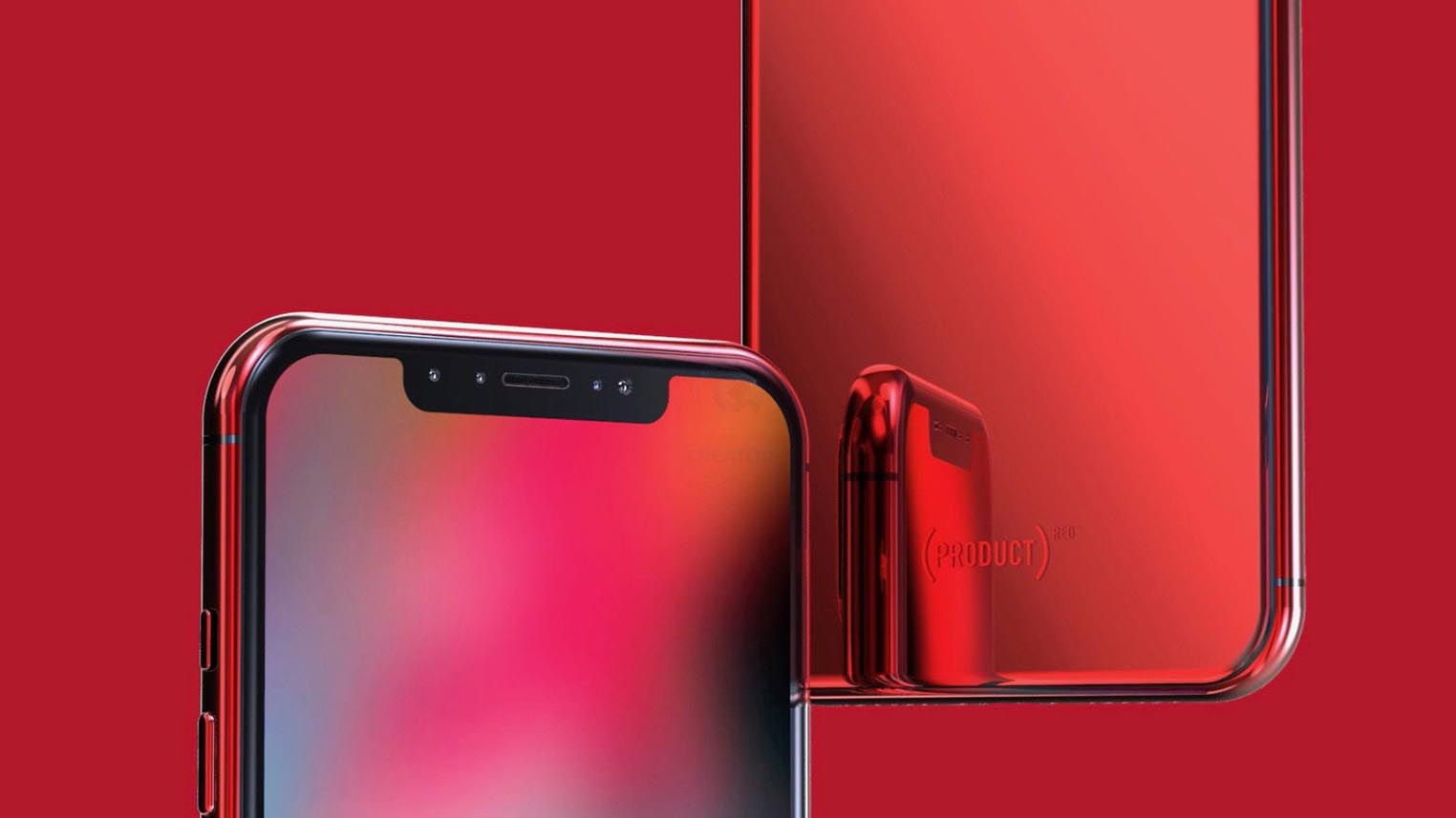 iPhone X rouge concept