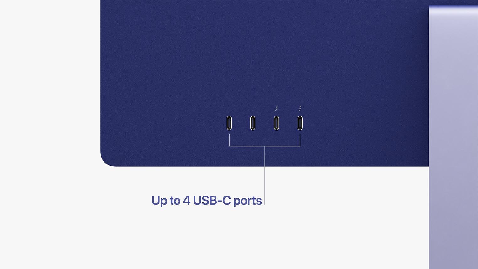 Connectique iMac M1 2021 USB-C