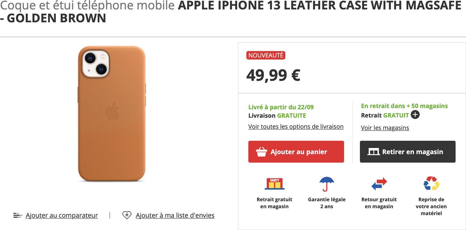 Coque cuir iPhone 13 Darty