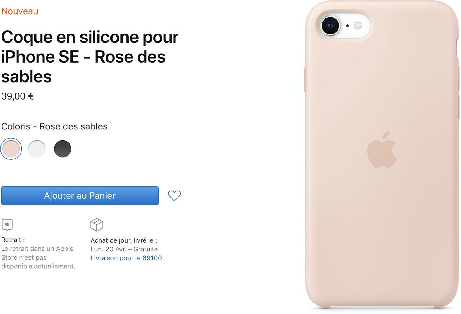 Consomac : Apple vend des coques officielles pour l'iPhone SE de 2020