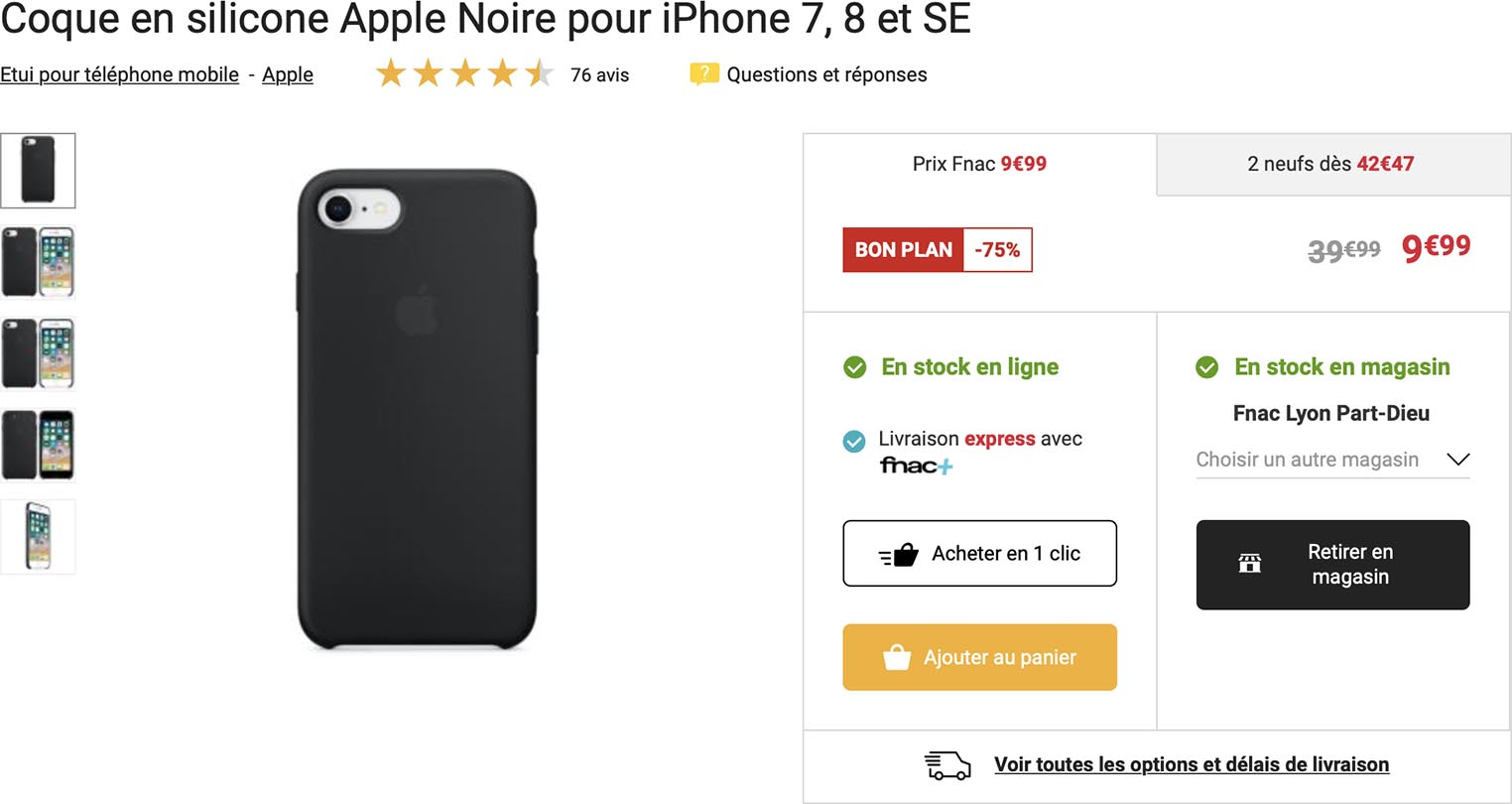 Coque silicone iPhoneSE Fnac
