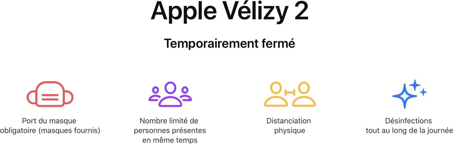 Apple Vélizy 2 temporairement fermé