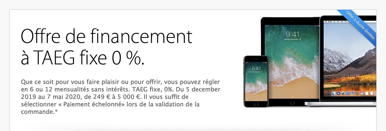 Crédit 0% Apple Store
