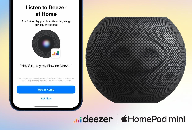 Intégration Deezer HomePod