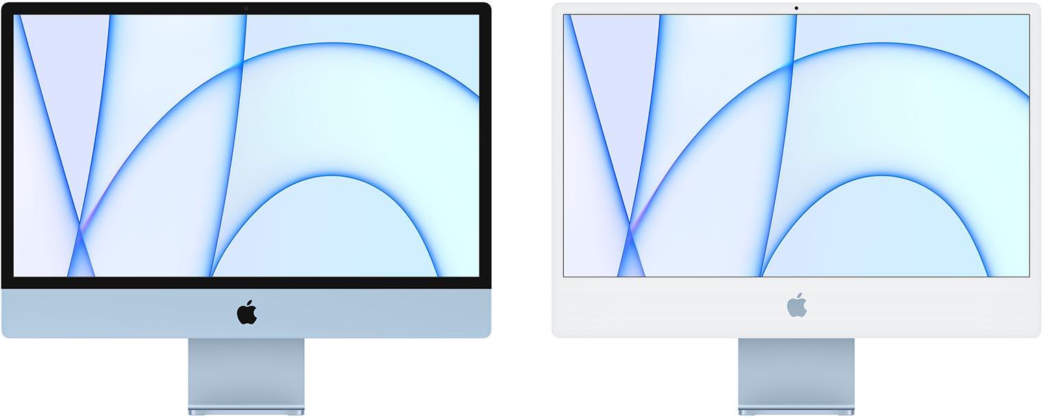 iMac 2021 façade noire et blanche