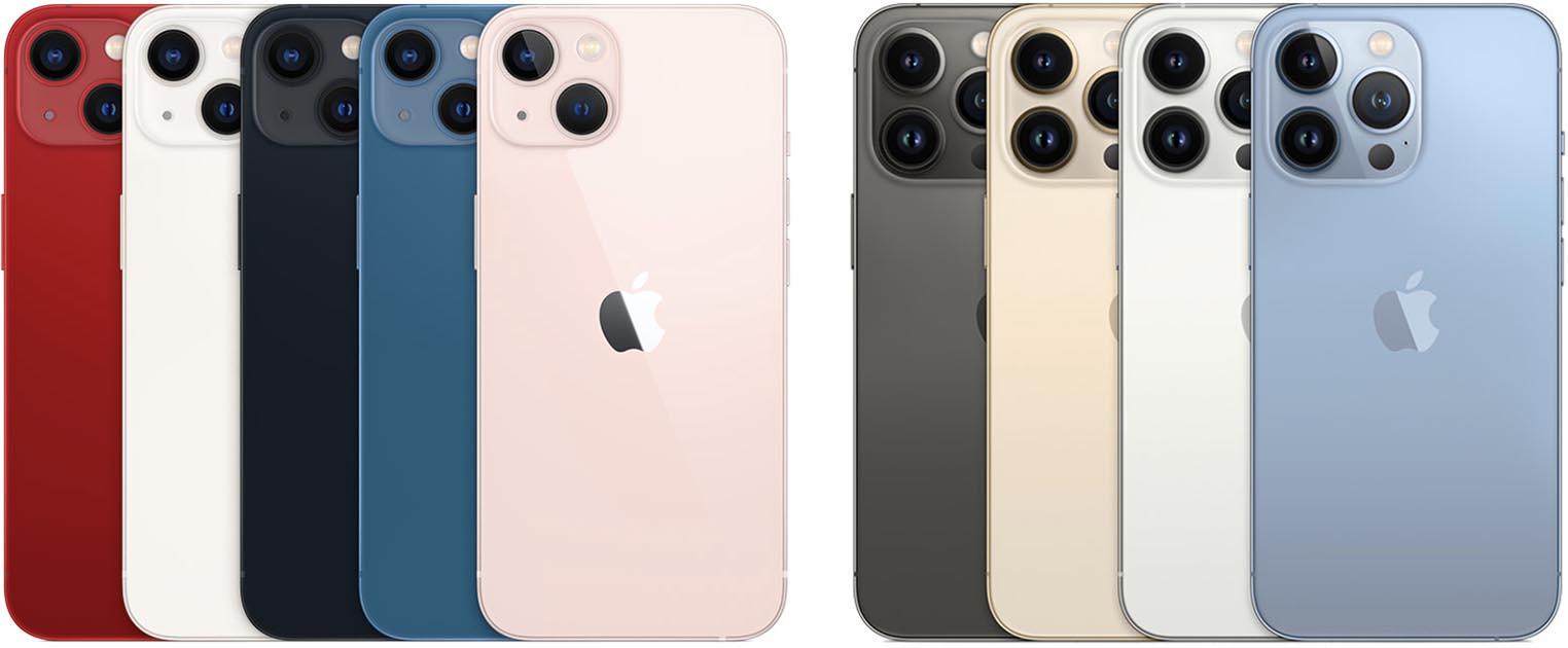 Coloris iPhone 13 iPhone 13 Pro
