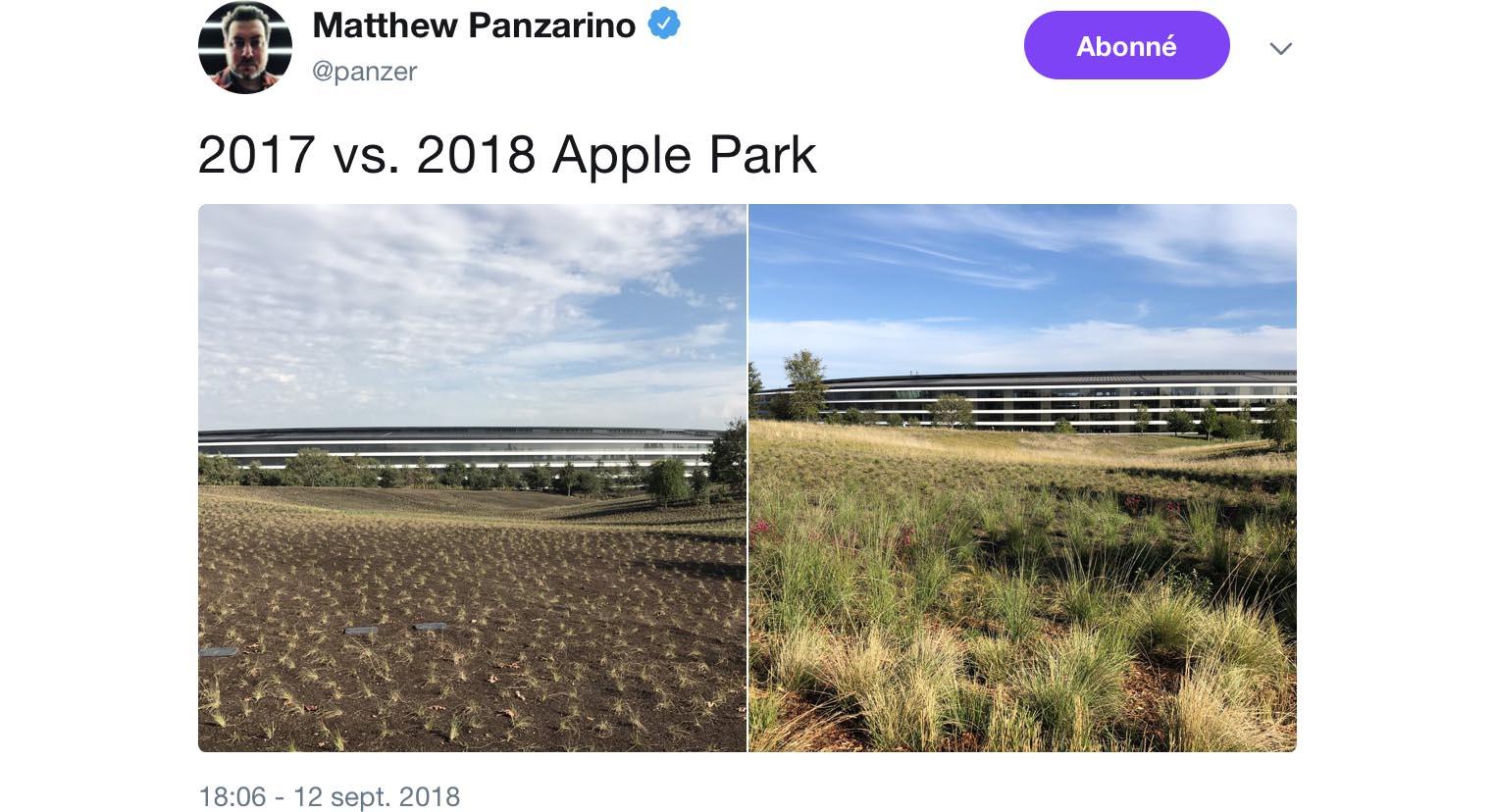 Apple Park végétation
