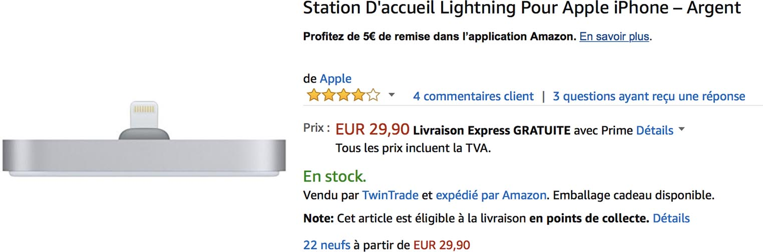 Dock Lightning promo Amazon