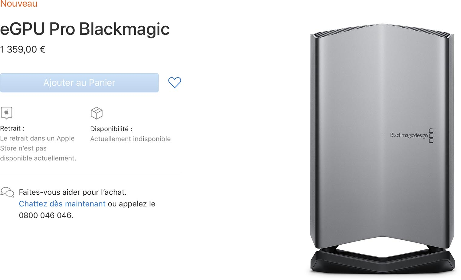 eGPU Pro Blackmagic Apple Store