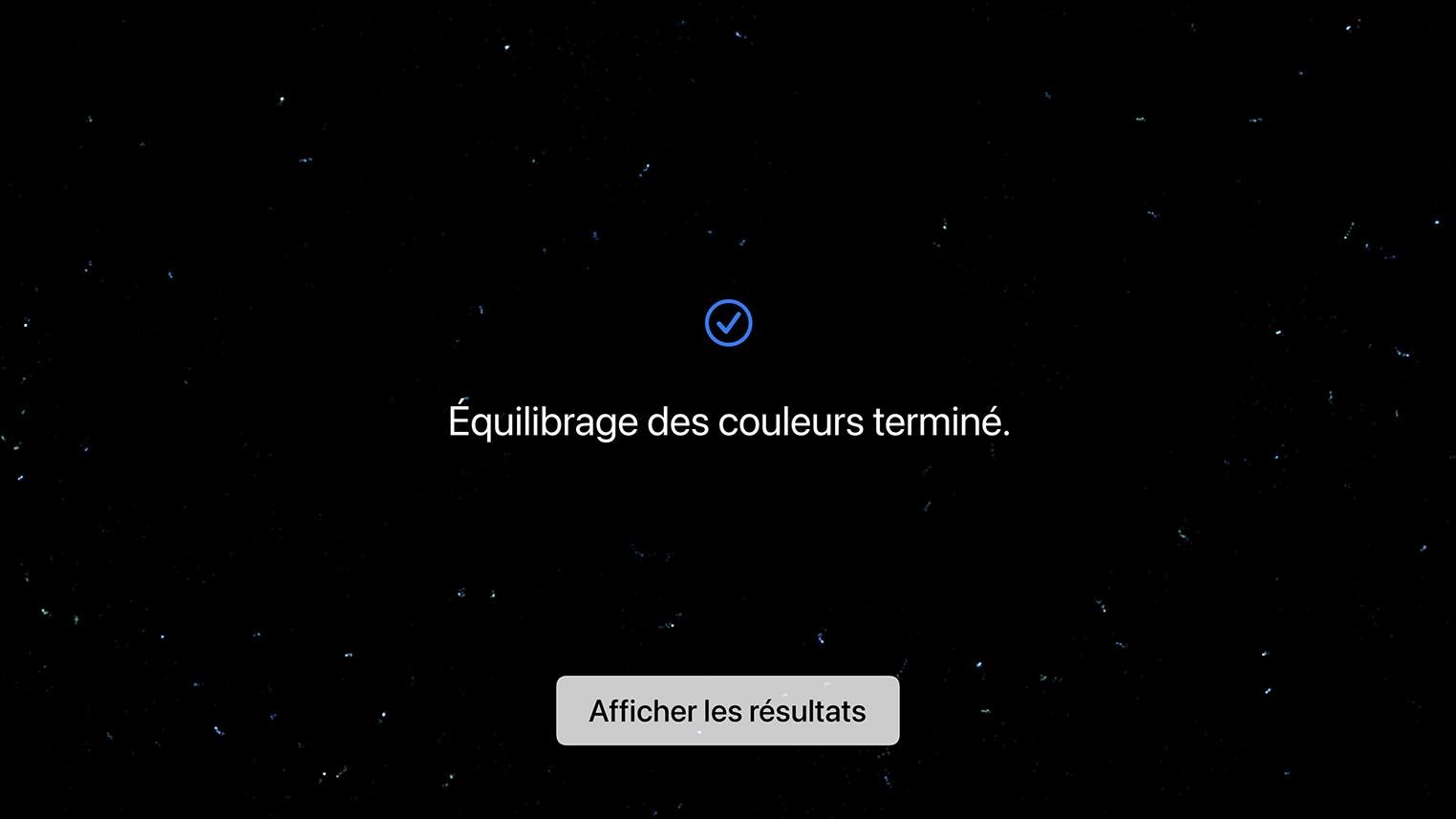 Réglage équilibre de couleurs Apple TV tvOS 14.5