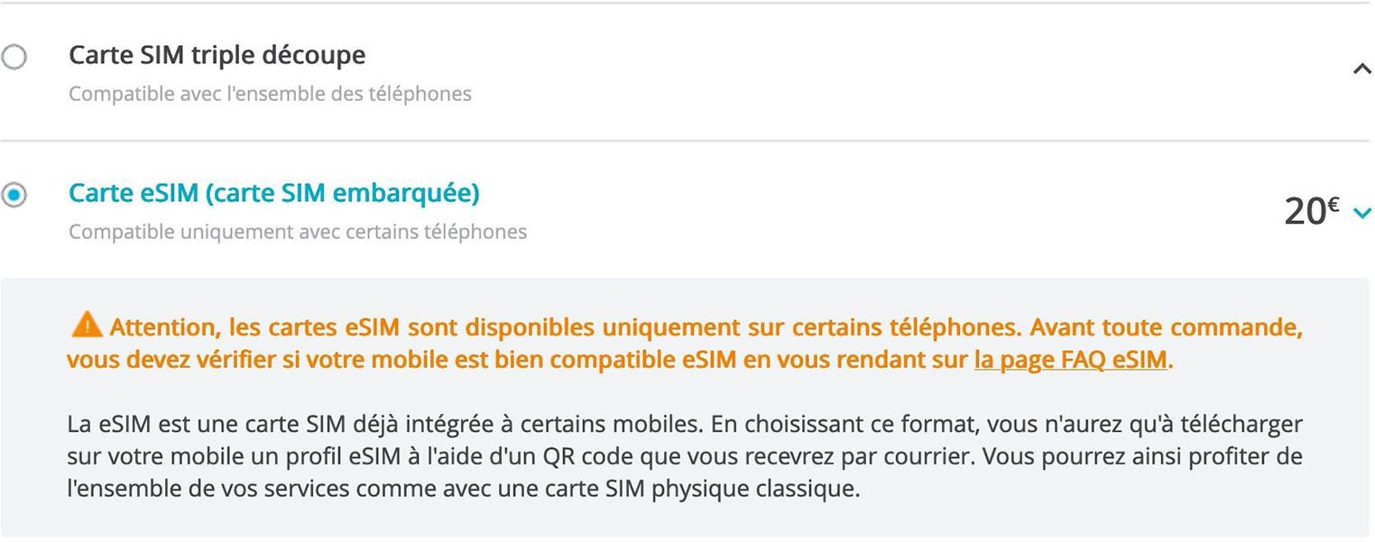 eSIM iPhone Bouygues Telecom