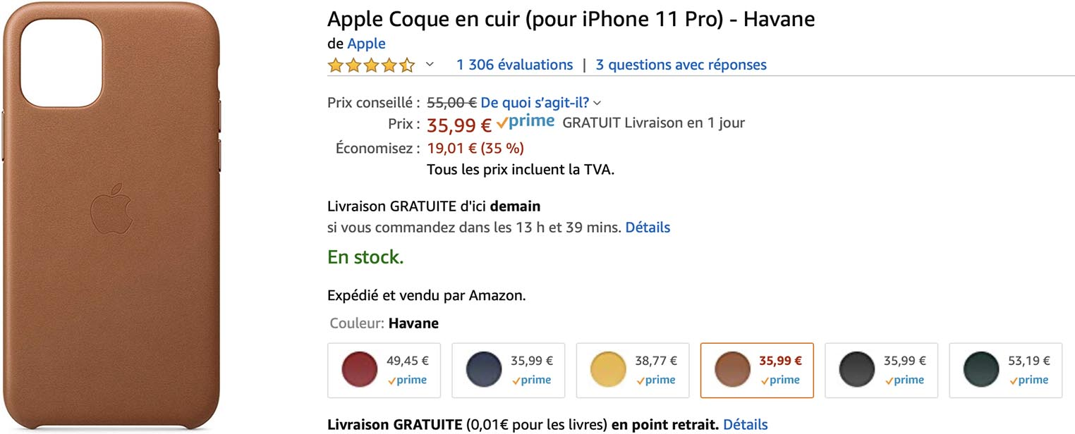 Coque cuir iPhone 11 Pro Amazon