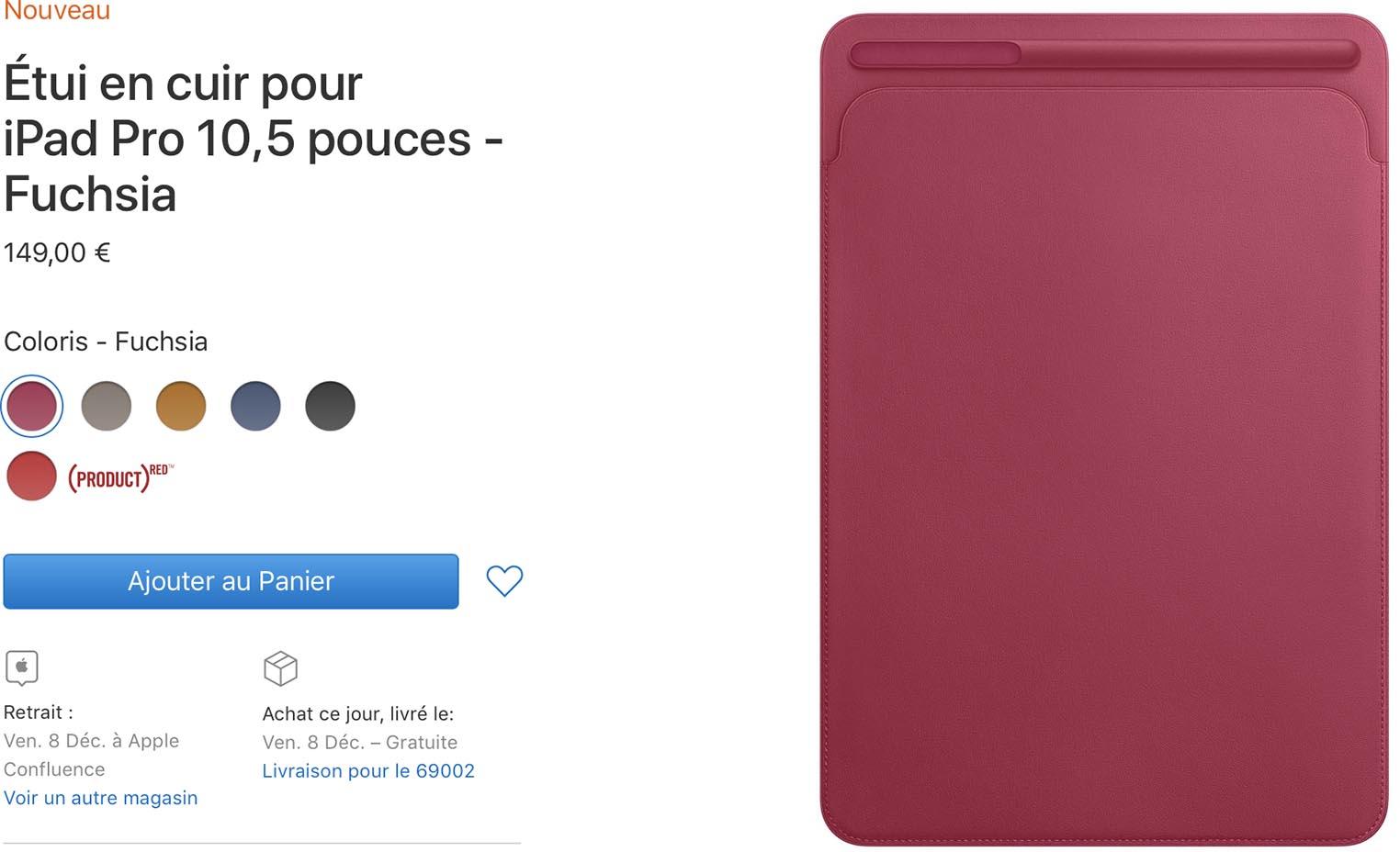 Étui fuschia iPad Pro