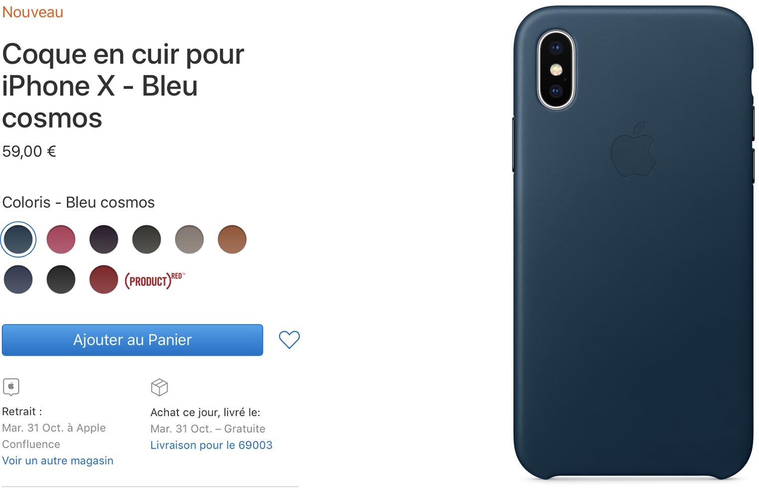 Étui cuir iPhoneX