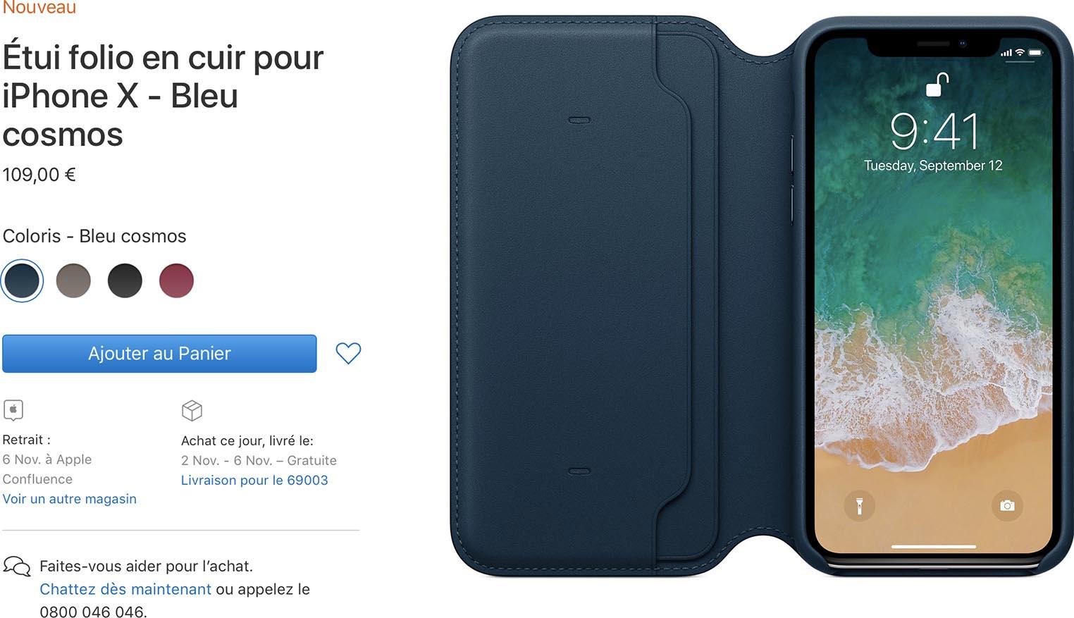 Étui folio iPhoneX