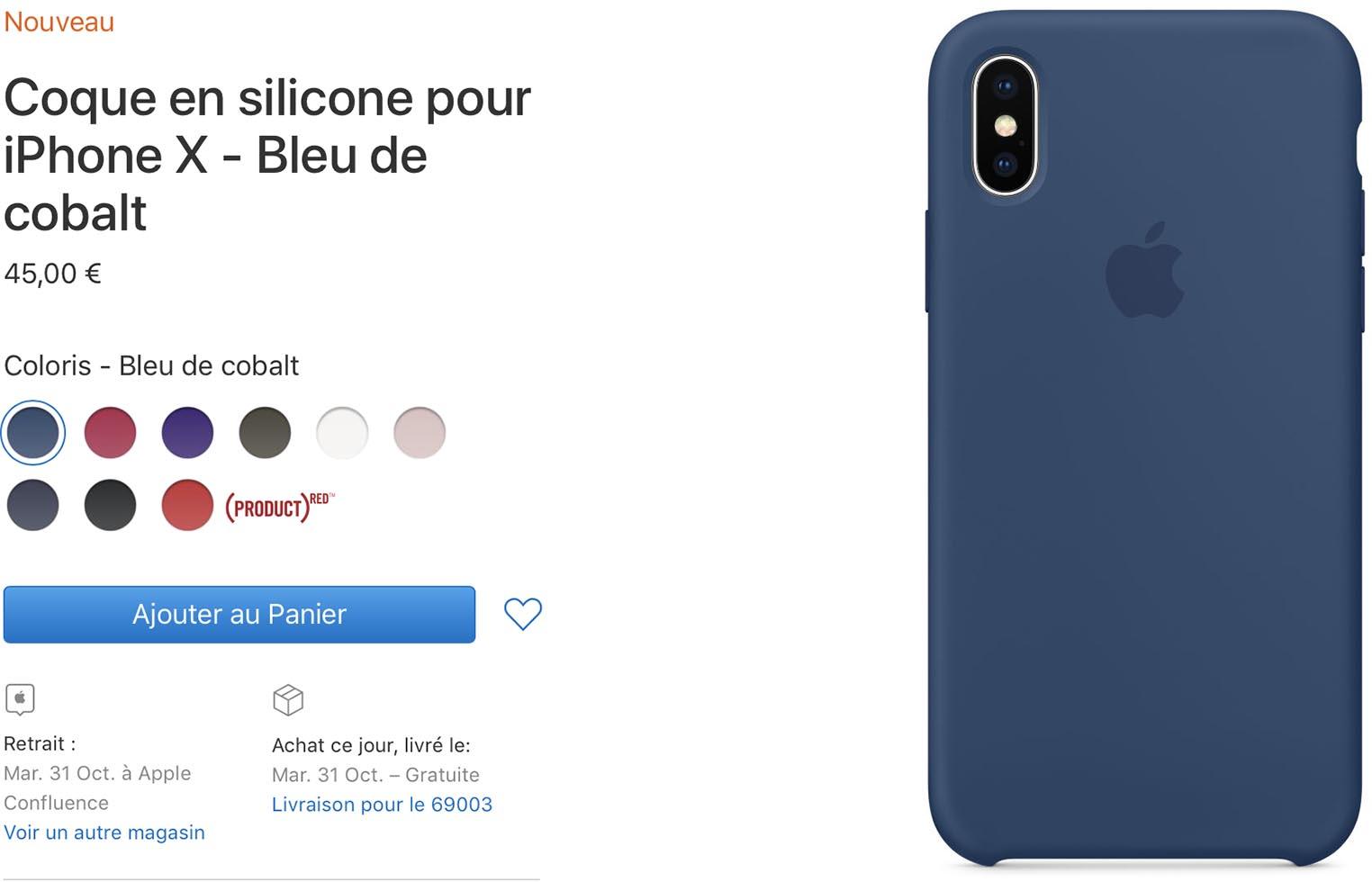 Étui silicone iPhoneX