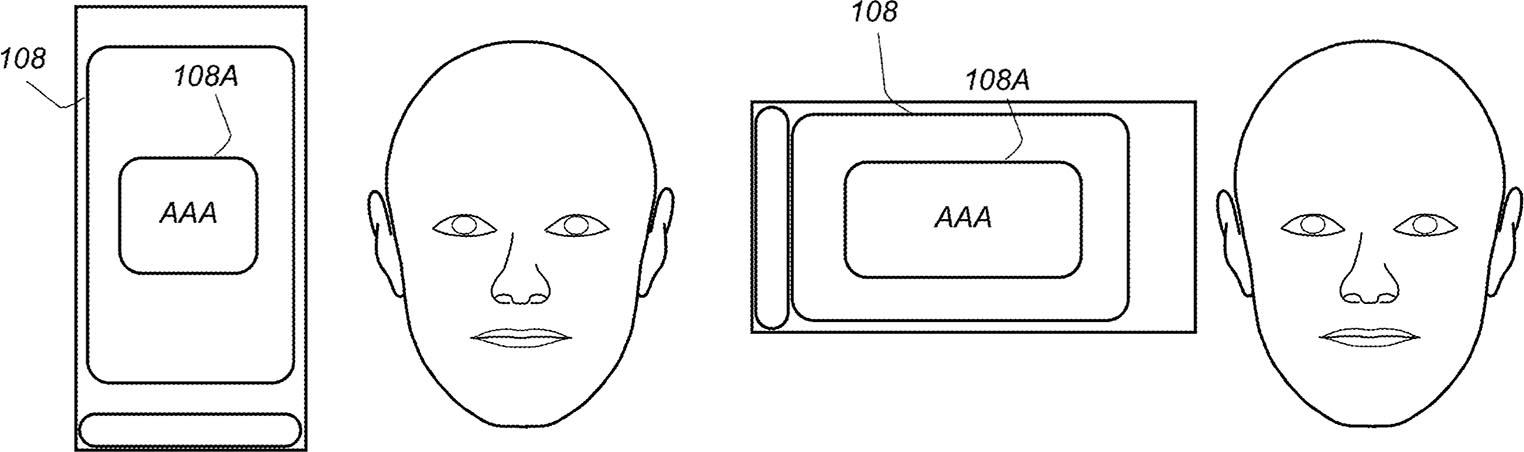 Face ID orientation écran brevet