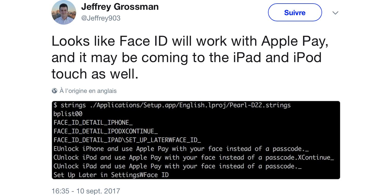 Face ID iPad iPod touch