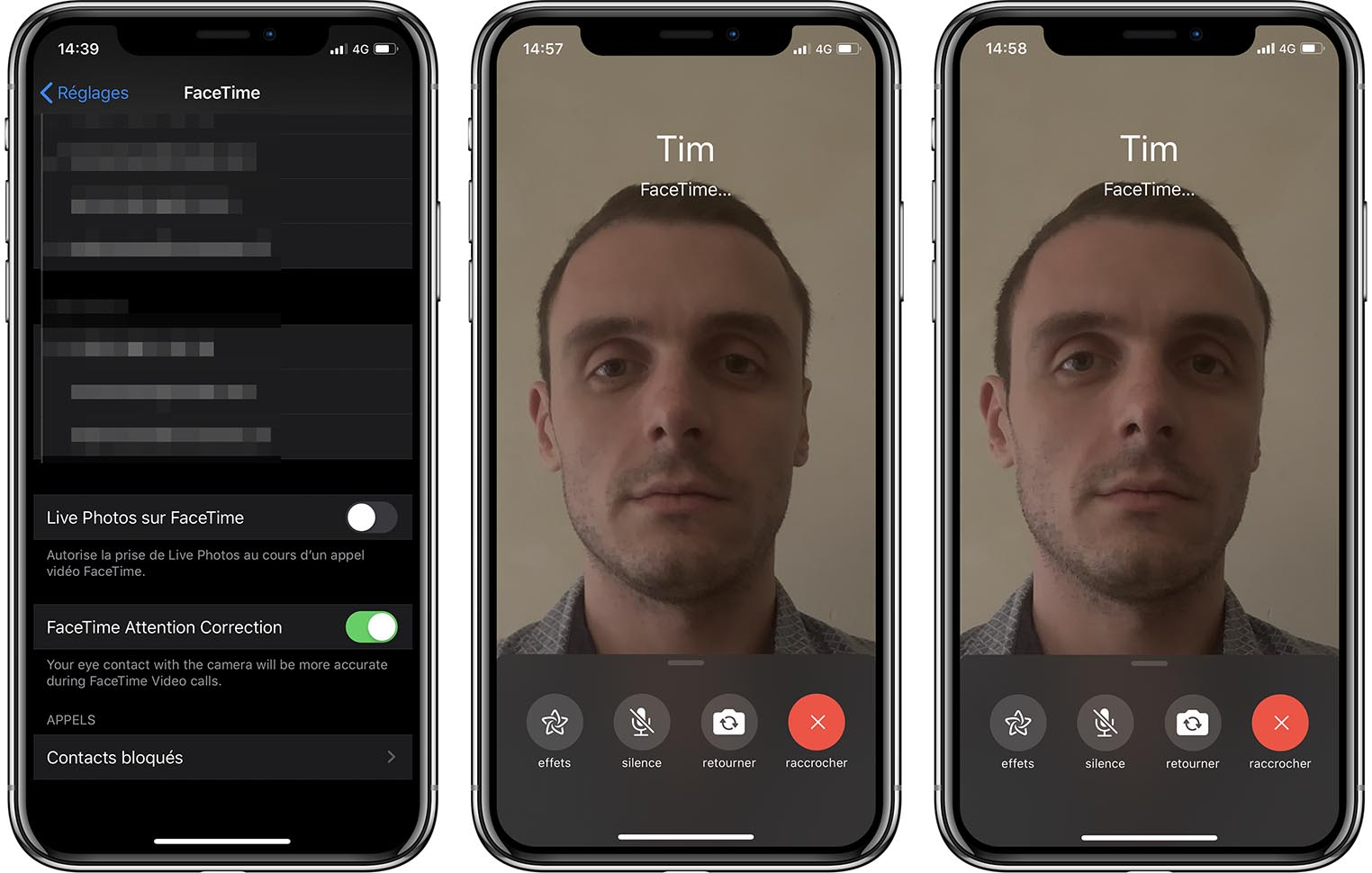 iOS 13 FaceTime Attention Correction