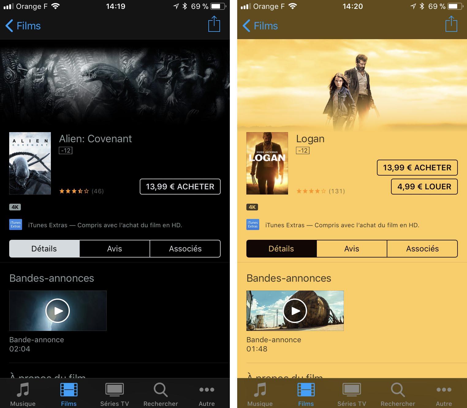 Films 4K iTunes