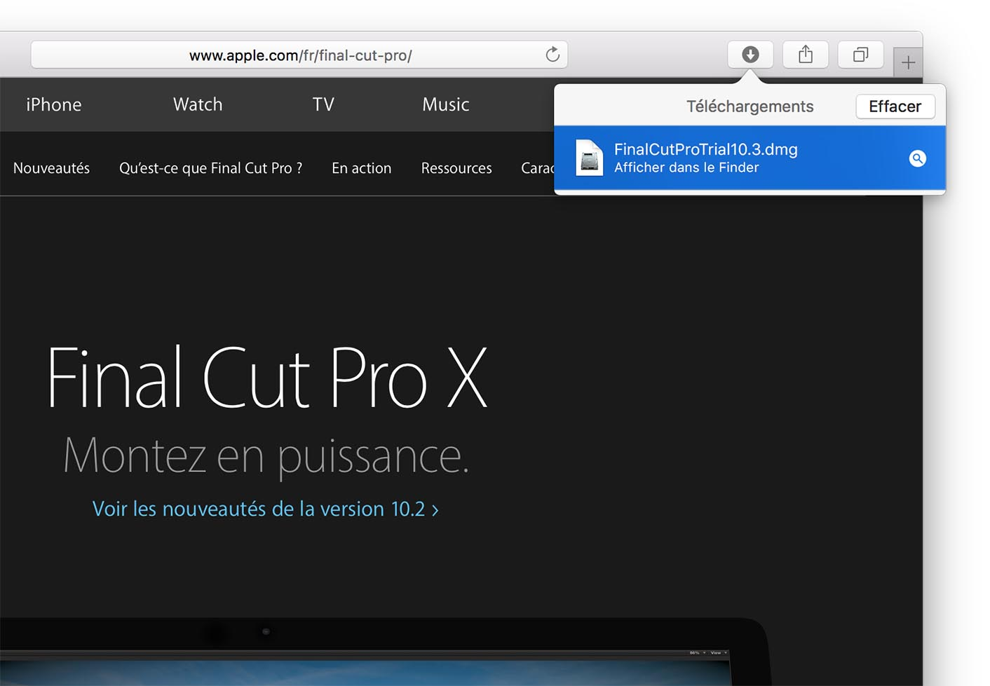 Final Cut Pro 10.3 trial