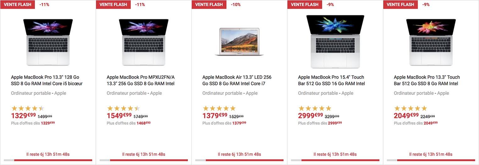 Vente flash MacBook Pro Fnac