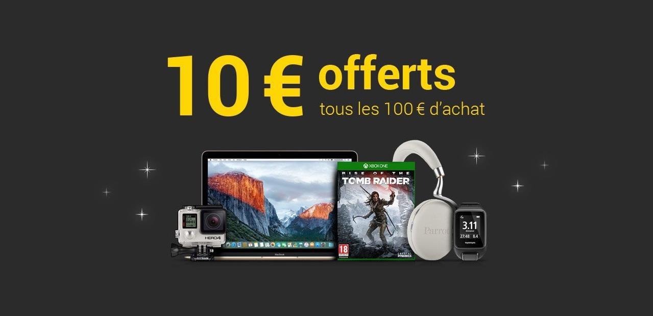 Consomac   10 € offerts tous les 100 € d achat à la Fnac 856361f09942