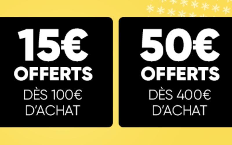 Jusqu'à 50 € offerts en bons d'achat à la Fnac