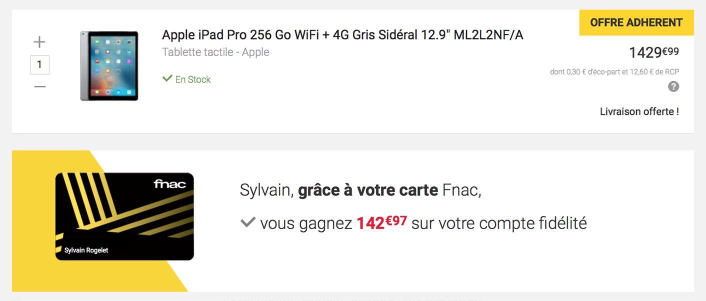Fnac iPad réduction