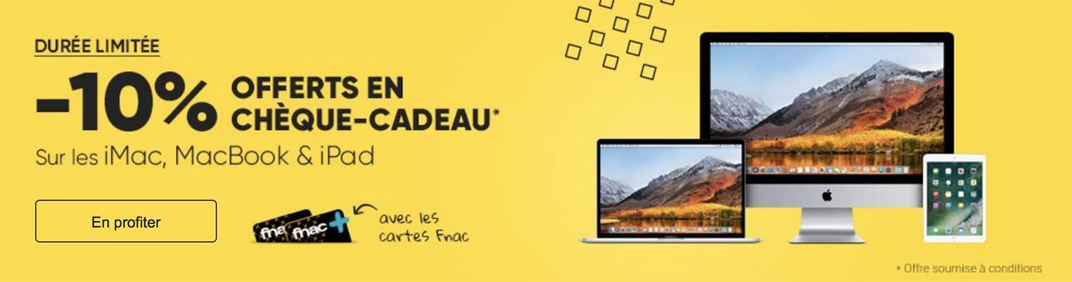 Promo Fnac Mac iPad