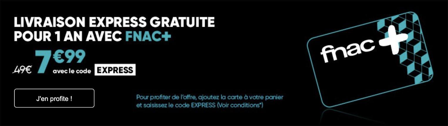 Carte Fnac+ promo