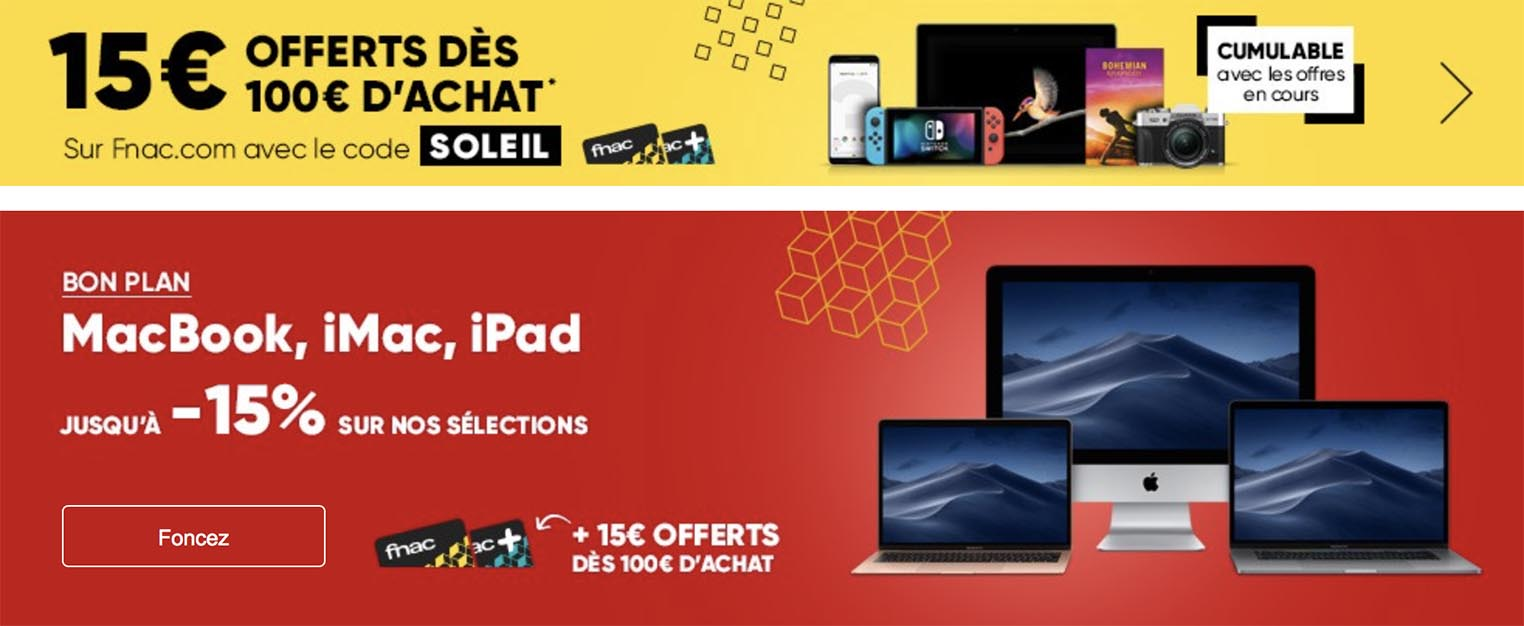 Bon plan Fnac Apple