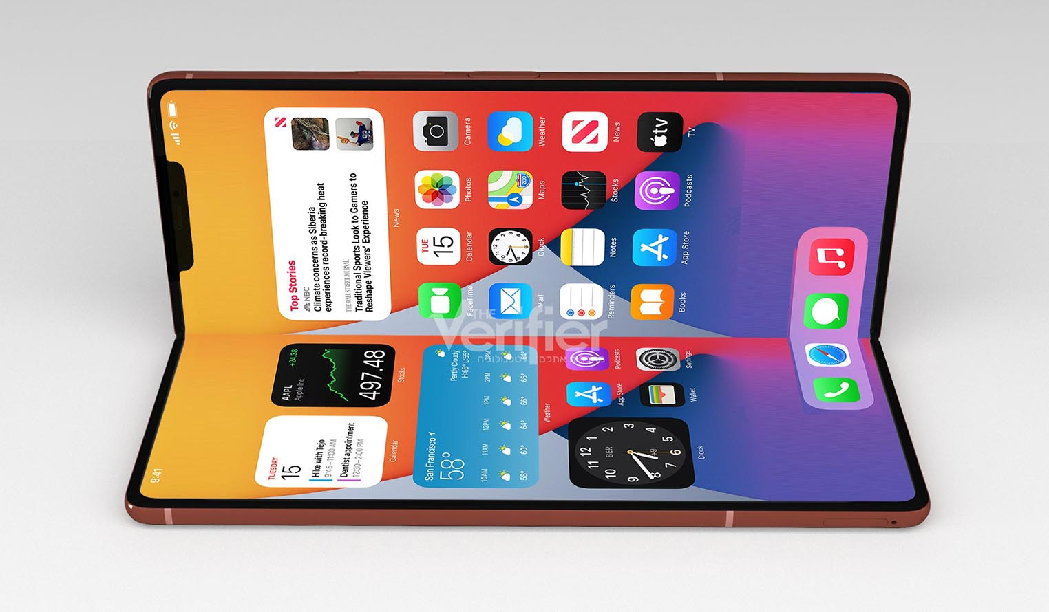 Concept iPhone pliable