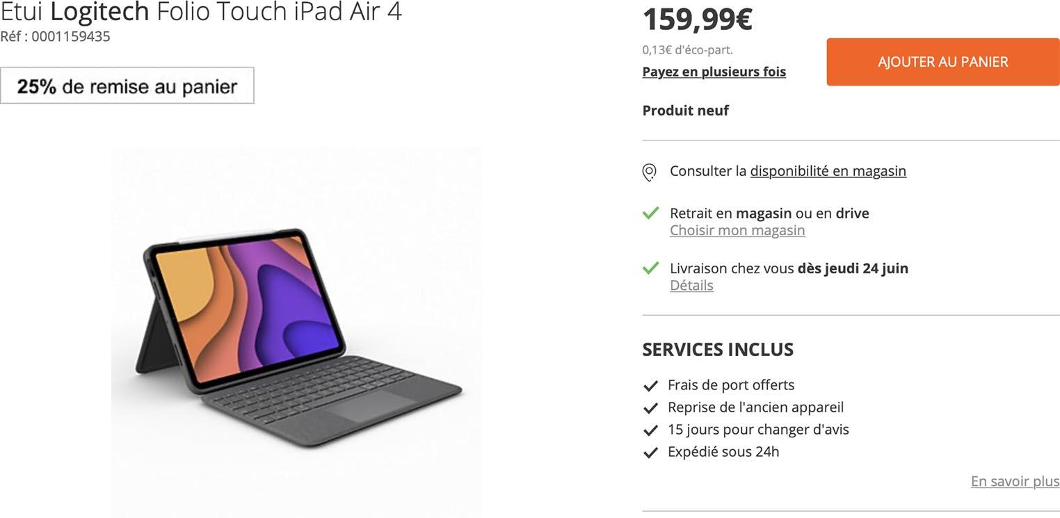 Folio Touch iPad Air 4 Boulanger