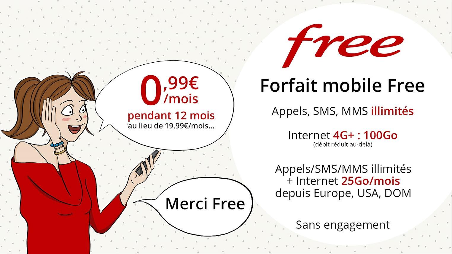 Forfait Free Mobile Vente Privée