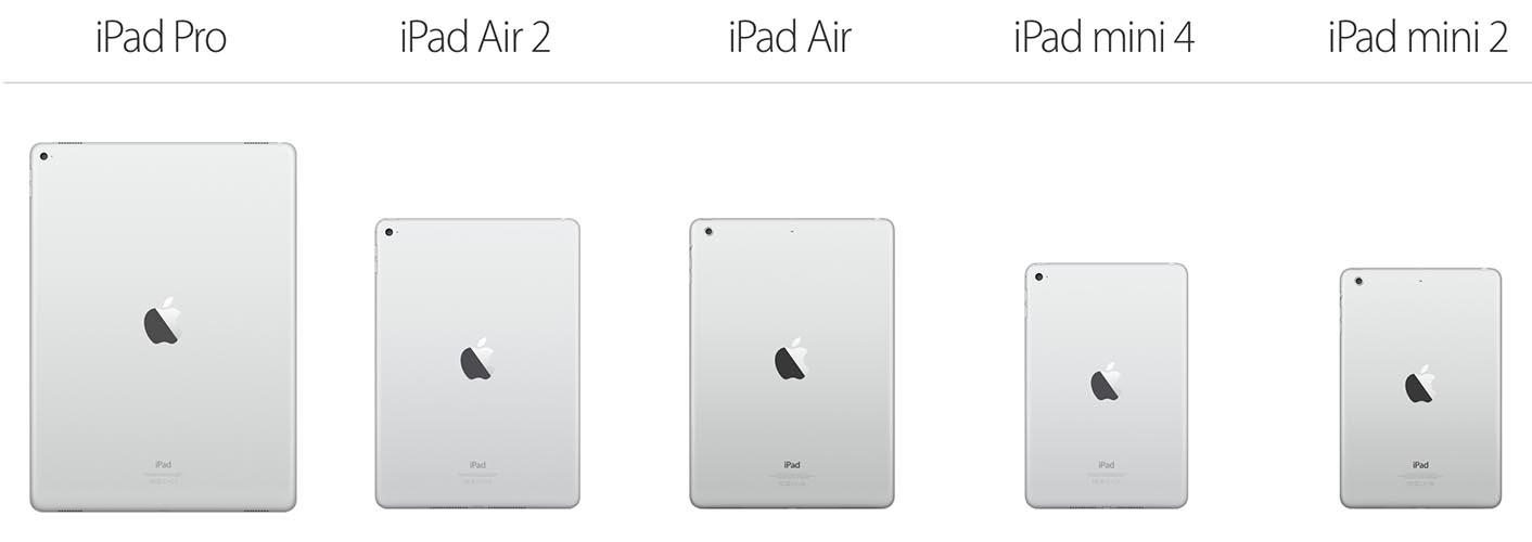 Gamme iPad 2015
