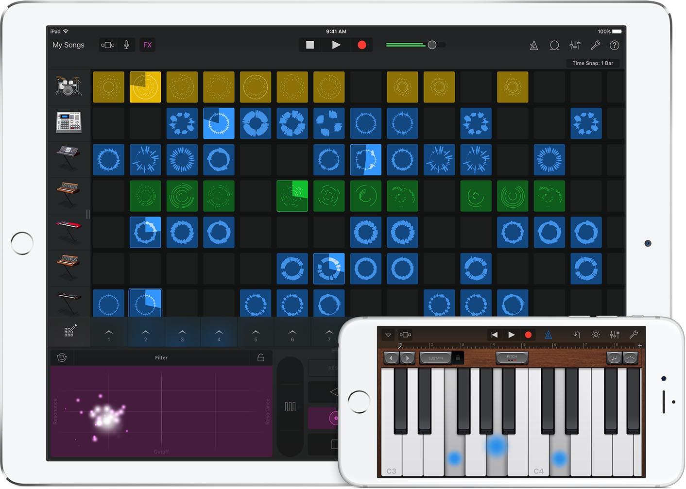 GarageBand 2.1 3D Touch