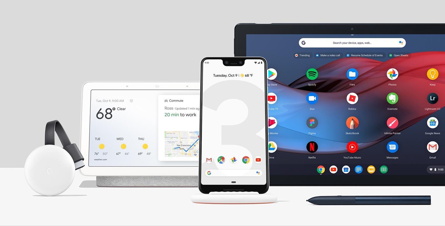 Produits Google 2018