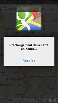 Google Maps offline iPhone