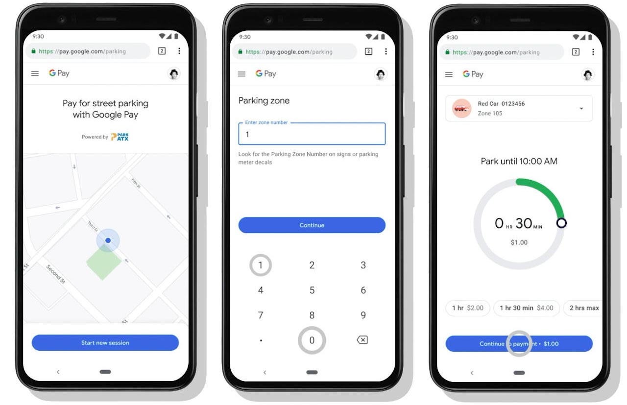 Google Pay Parking