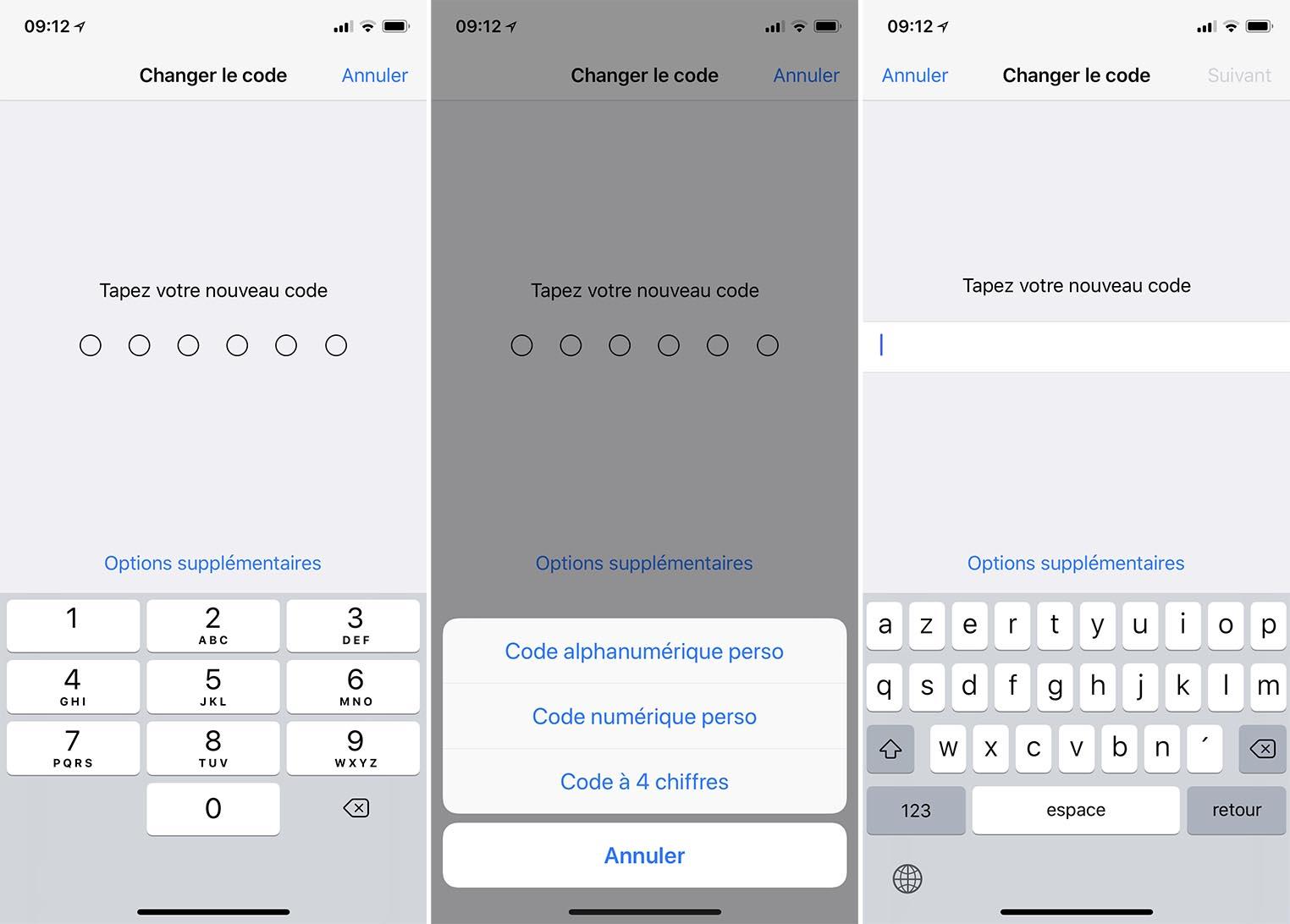 Changement code iOS