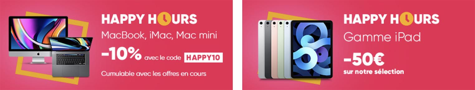 Promo Happy Hours Apple Fnac