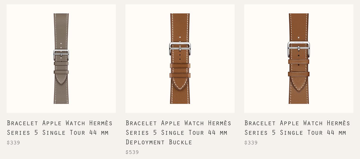 Bracelets Hermès Apple Watch Series 5