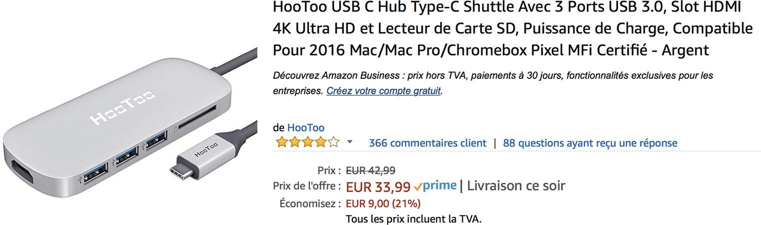 Hootoo hub USB-C