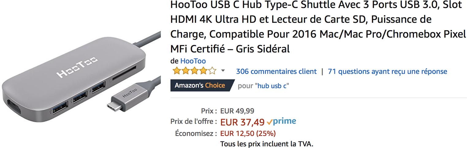 Hootoo USB-C Amazon